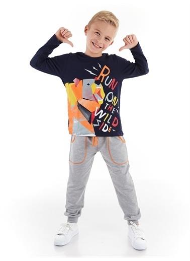 Denokids Wild Bear Erkek Çocuk Pantolon Takım Renkli